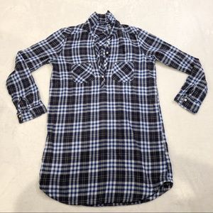 Aerie | Flannel Tunic Button Down M